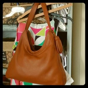 Talbots Saddle Brown Leather  Bag
